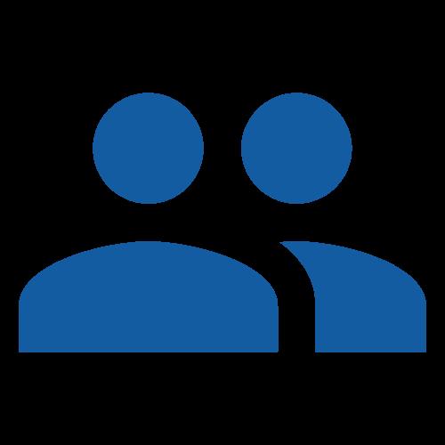 icona per recensioni blu