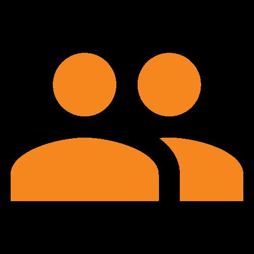 icona per recensioni arancio